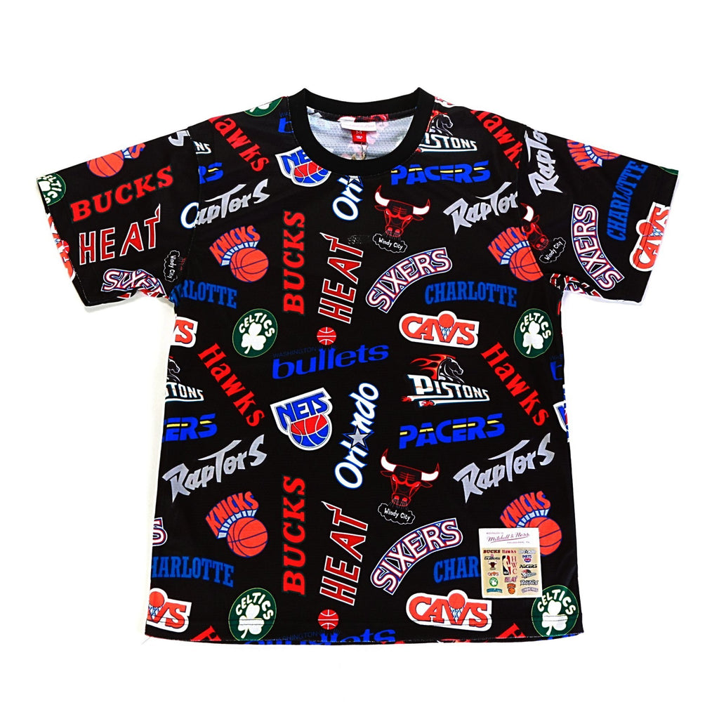 Mitchell & Ness All Over Eastern Tee in Black