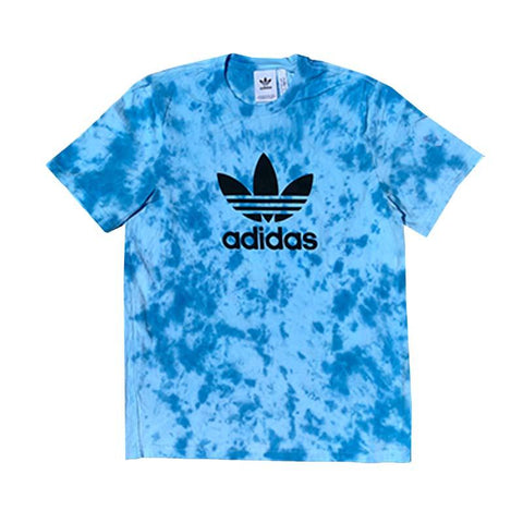 "Adidas x Jeffersons Custom Tonal Tie Dyed T-Shirt ""OCEAN BLUE"""