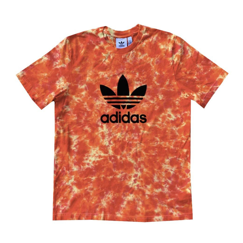 "Adidas x Jeffersons Custom ""Trippy Red"" Tie Dyed T-Shirts"
