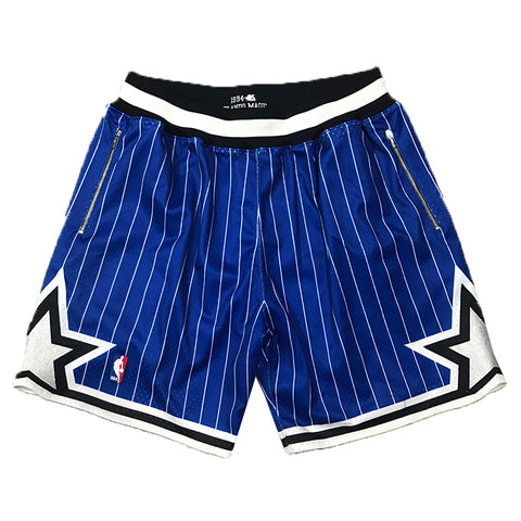 Mitchell & Ness 1994-95 Orlando Magic Alternate Authentic Shorts in Blue w/ Customized Pockets