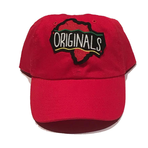 "Originals ""African"" Dad Hat ""Red"""
