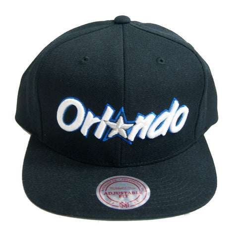 size 40 c0fcb 63af3 NBA Mitchell   Ness Orlando Magic Black Wordmark Snapback Cap On Sale