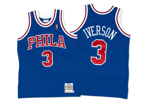 Mitchell & Ness Allen Iverson 1996-97 Authentic Jersey Philadelphia 76ers In Royal