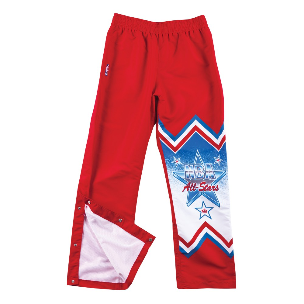 Mitchell & Ness 1991 NBA All Star West Warm Up Pants in Red