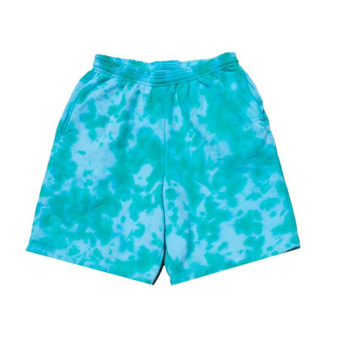 "Jeffersons Custom Tonal Tie Dyed Shorts w/ Pockets ""AQUA MARINE"""