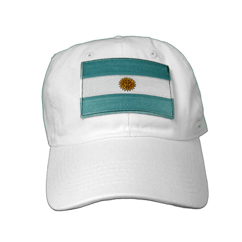 Vintage Culture Argentina Patched Dad Hat In White