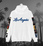 """Los Angeles"" Hoodie in White"