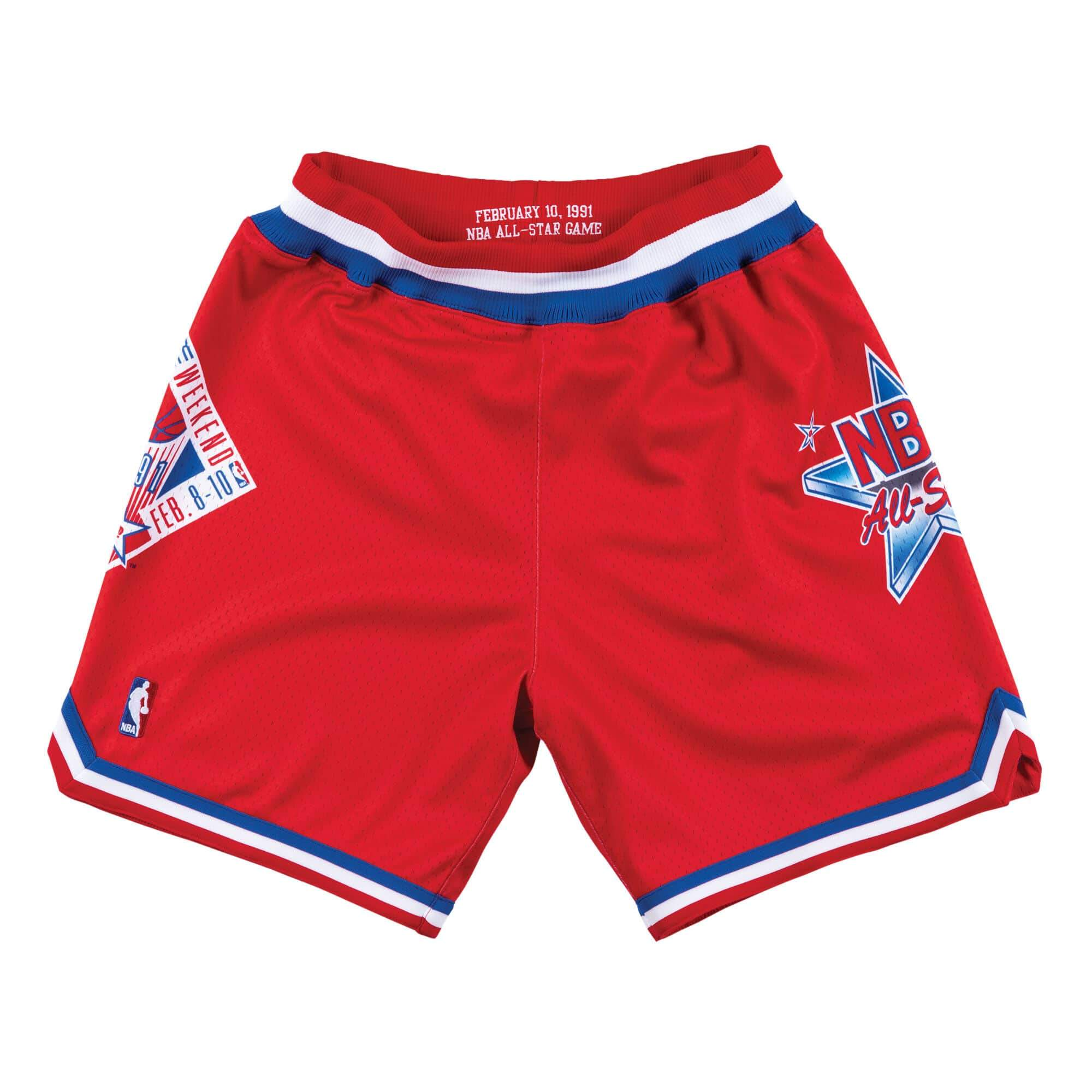 Mitchell   Ness 1991 NBA All Star Game West Authentic Shorts in Red e51e5a64a