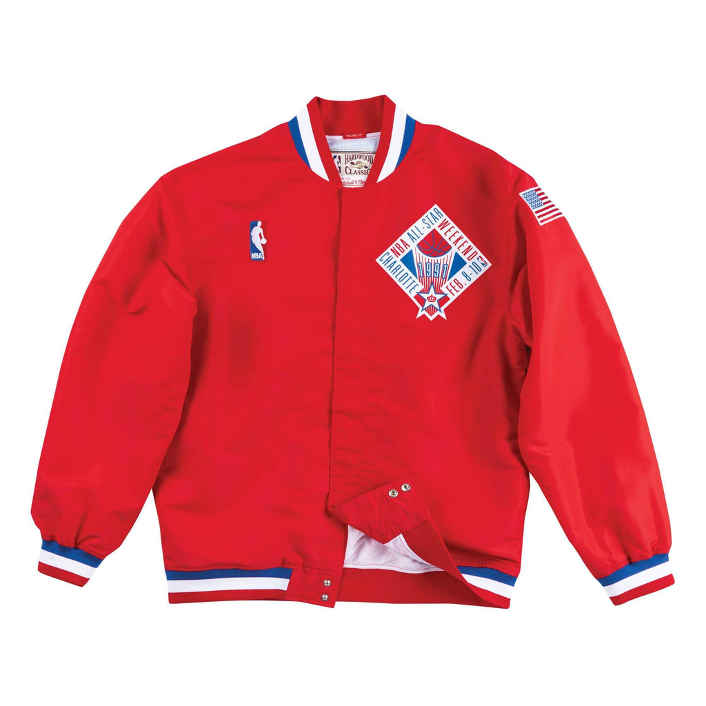 Mitchell & Ness 1991 NBA All Star Game West Authentic Warm Up Jacket in Red