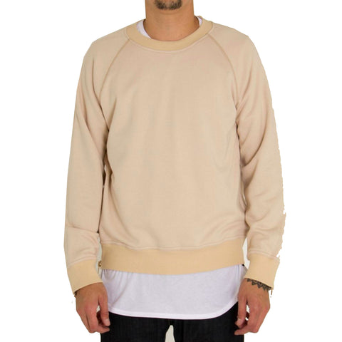 4 Zippers Raglan Sweatshirt In Creme