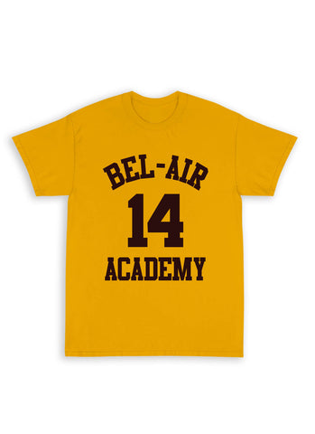 "Bel-Air ""SMITH""  Name & Number Tee Shirt in Gold"