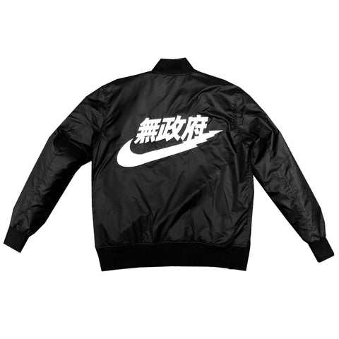 Anarchist Bomber Jacket in Black