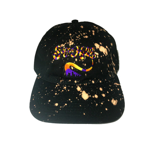 Sugar Hill Gang Black Bleached Strapback Dad Cap