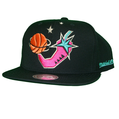 Mitchell & Ness 1996 NBA All Star Chili Pepper Snapback In Black