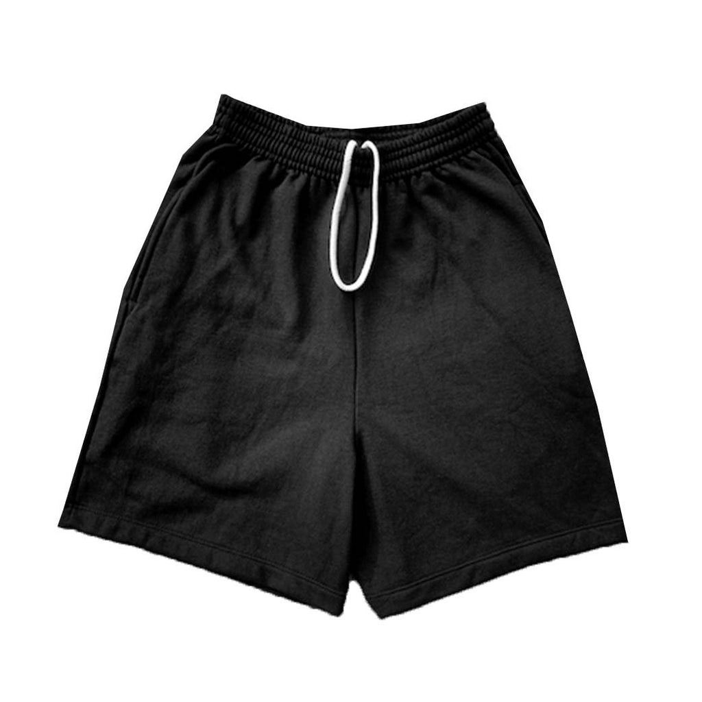 Jeffersons Solid Black Sweatshorts w/ Pockets