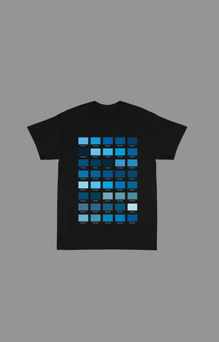 "Pantone ""Blue"" Tee Shirts (Available in Black & White)"