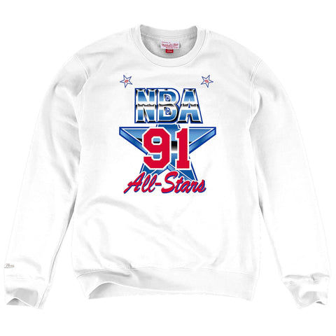 Mitchell & Ness 1991 NBA All Star Game East Fleece Crewneck in White