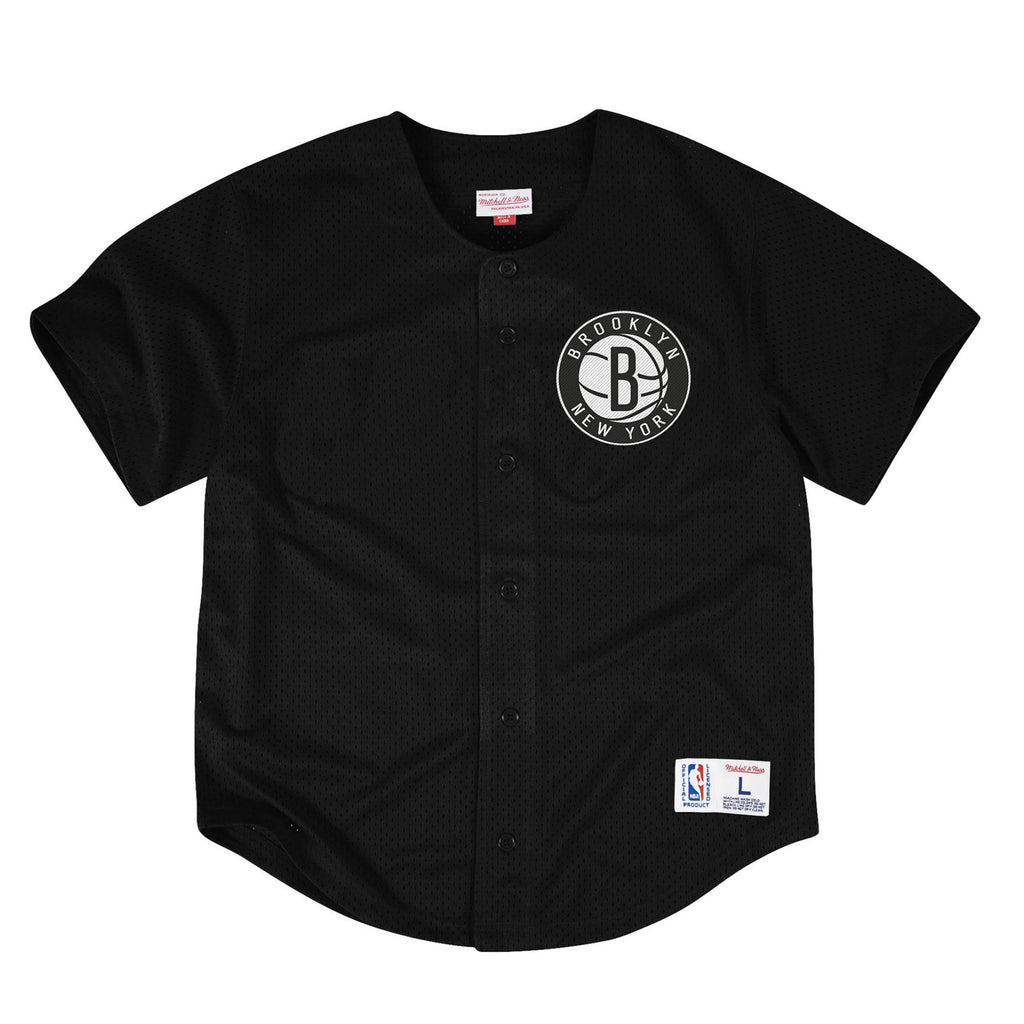 Mitchell & Ness NBA Brooklyn Nets Mesh Front Button Jersey