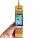 Jeffersons Vampline Touch Screen GSM Dual SIMs Original OG Brick Phone In Gold