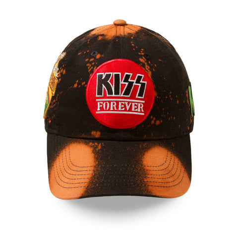 "Posh Dad Hat Acid Wash Rock Hard Series ""Kizz"" Brown"