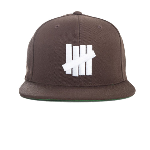 Undefeated 5 Strikes Snapback In Chocolate
