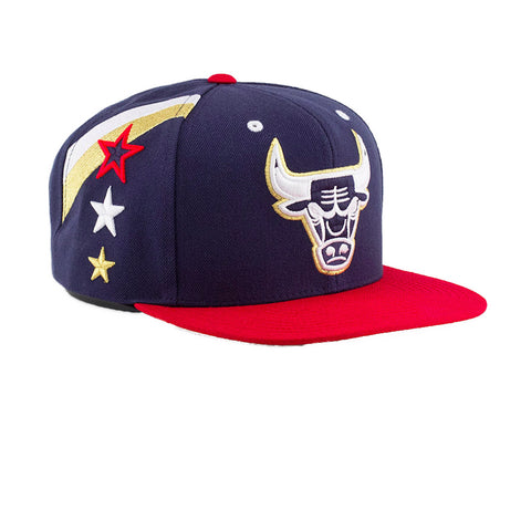 Mitchell & Ness 4th Of July Chicago Bulls Snapback In Navy