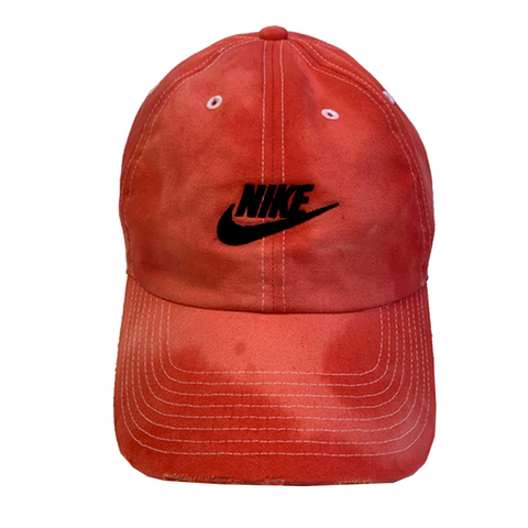"Nike ""CARMINE"" Custom Tonal Washed Dad Cap"