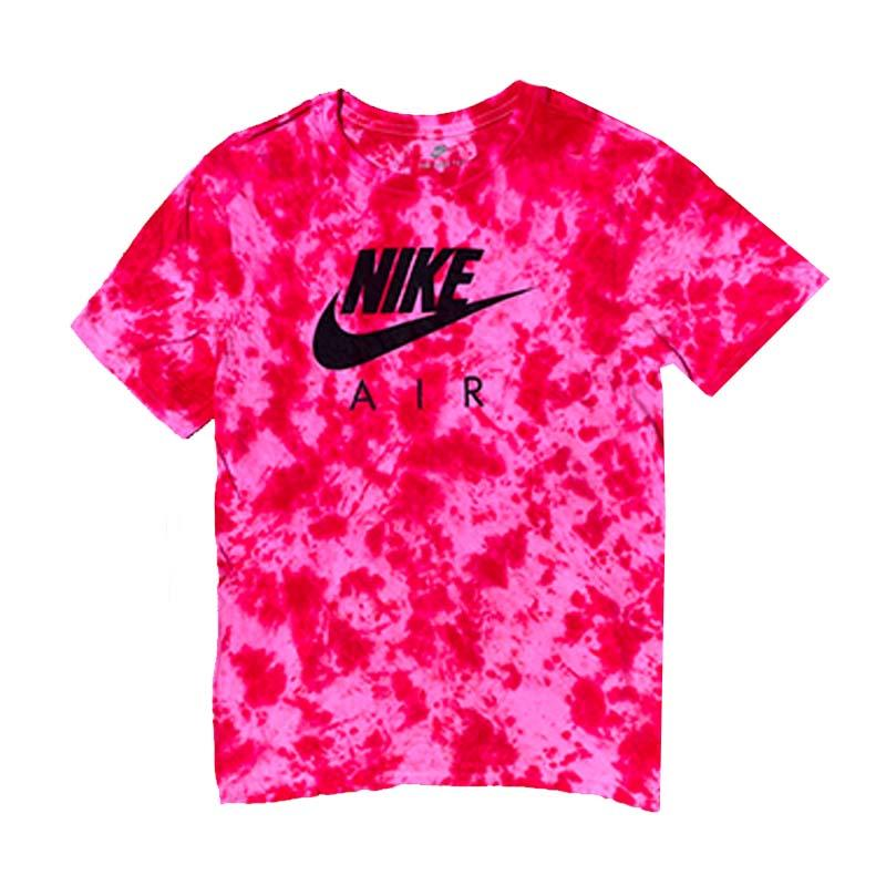 "Nike x Jeffersons Custom Tonal Tie Dyed T-Shirt ""CARMINE RED"""