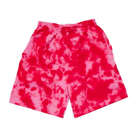 "Jeffersons Custom Tonal Tie Dyed Shorts w/ Pockets ""CARMINE RED"""