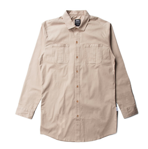 Publish Cason Button Up In Tan