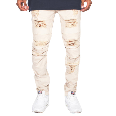 The Dorado Chalk Distressed Pants