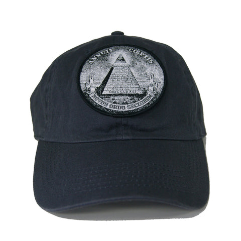 Vintage Culture All Seeing Eye Patched Dad Hat In Grey