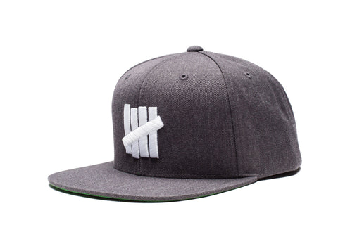 Undefeated 5 Strike HO16 Snapback In Charcoal Heather