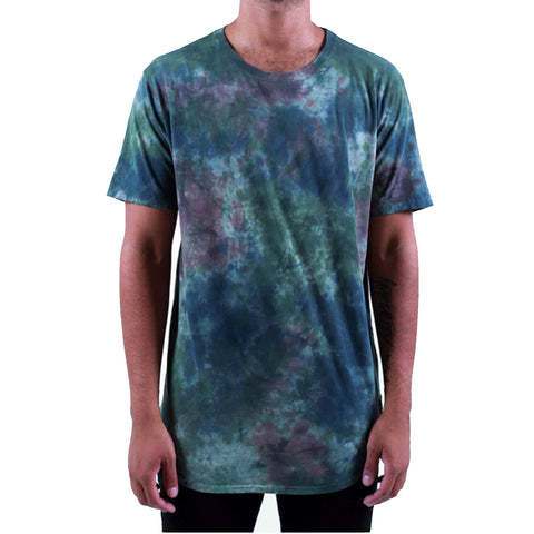 Long Tail Tee Extended in Tie Dye Camo