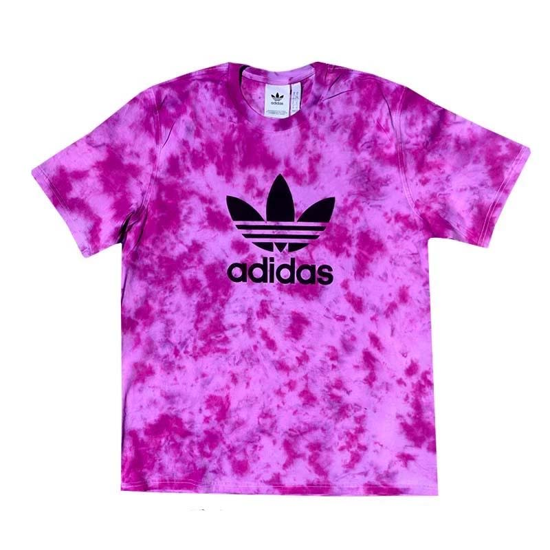 "Adidas x Jeffersons Custom Tonal Tie Dyed T-Shirt ""PURPLE HAZE"""