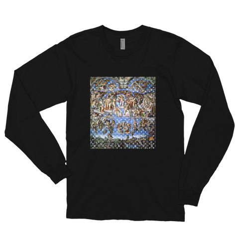 "Limited ""LV x DaVinci"" Sistine Concept L/S Tee (Available in Black & White)"