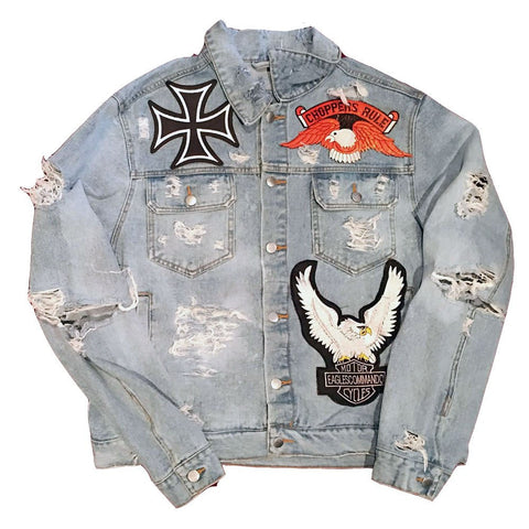 "Rock Hard Vintage ""Chopper"" Denim Jacket"