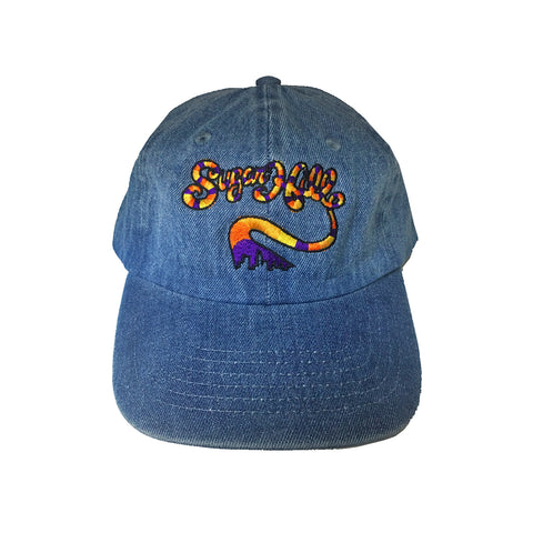 Sugar Hill Gang Denim Blue Strapback Dad Cap