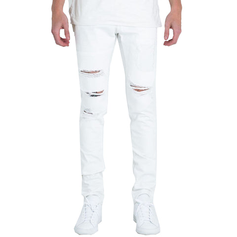 Emebellish NYC Drophead Jeans In White