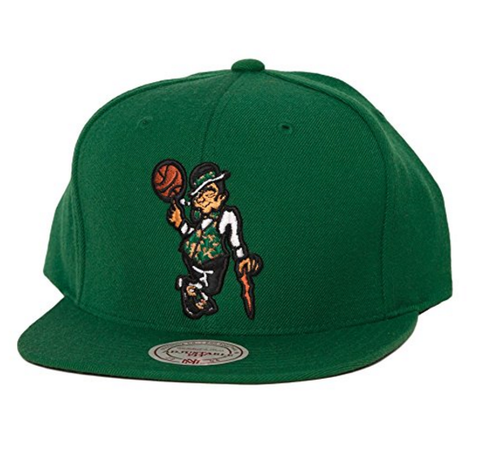 NBA Mitchell & Ness Boston Celtics Lucky Snapback Hat