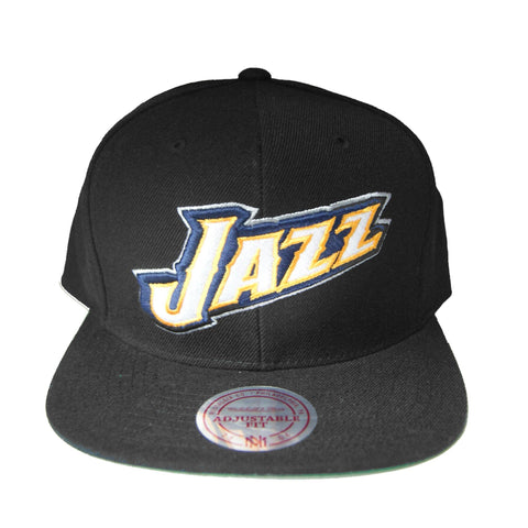 NBA Mitchell & Ness Utah Jazz New Snapback Cap in Black