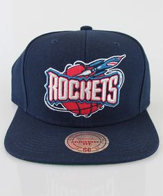 Mitchell & Ness Mens Houston Rockets NBA Solid Snapback Navy