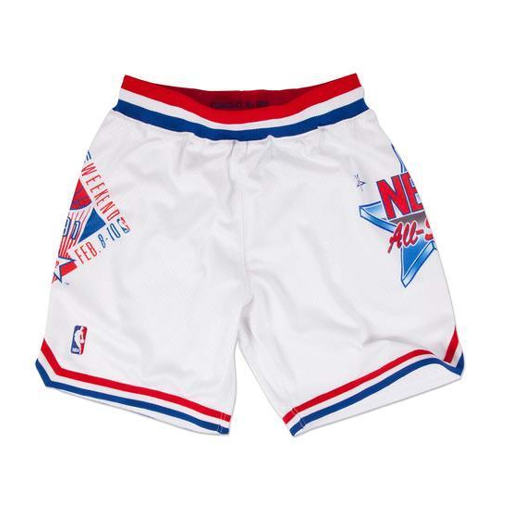 Mitchell   Ness 1991 NBA All Star Game East Authentic Shorts in White 4034aeaf4