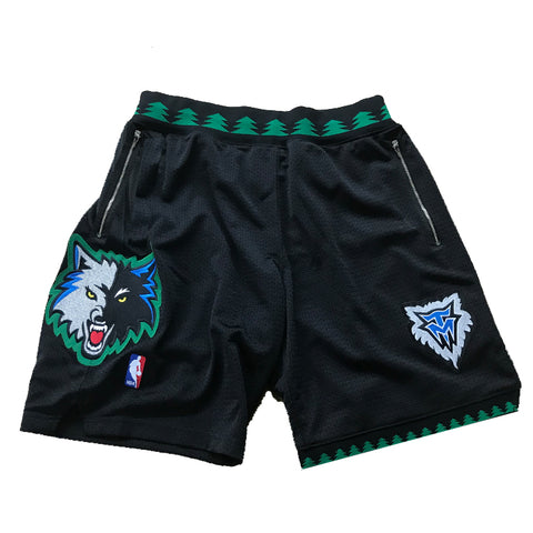 Mitchell & Ness 2003-04 Minnesota Timberwolves Authentic Shorts w/ Customized Pockets