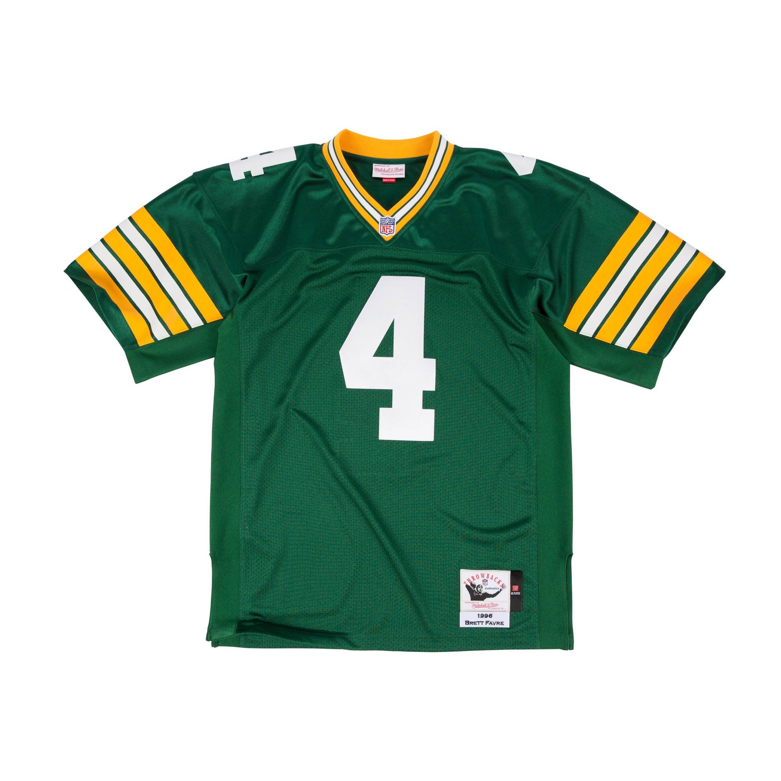 buy online b58a0 aa997 Mitchell & Ness Brett Favre 1996 Authentic Jersey Green Bay ...