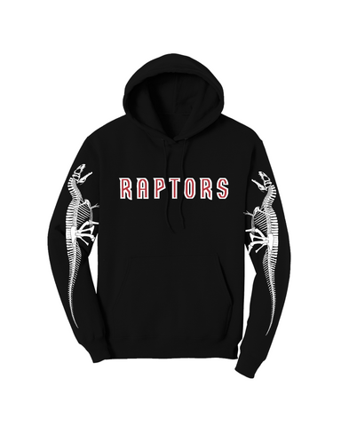 """RAPTORS"" Osteology Pullover Hoodie in Black"