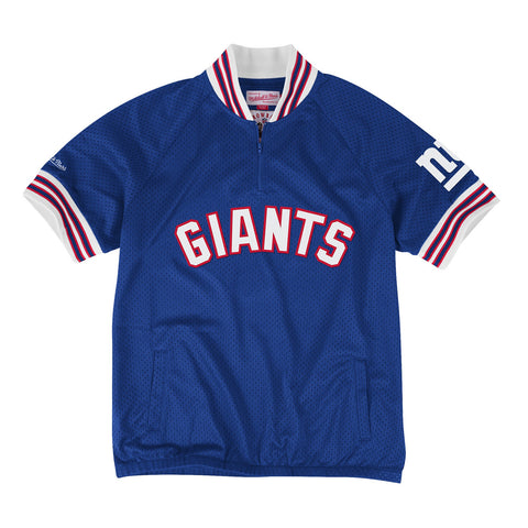 Championship Win 1/4 Zip Mesh Pullover New York Giants