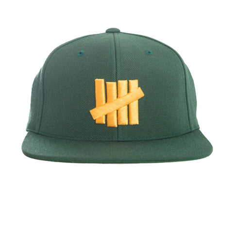 Undefeated 5 Strikes Snapback In Green