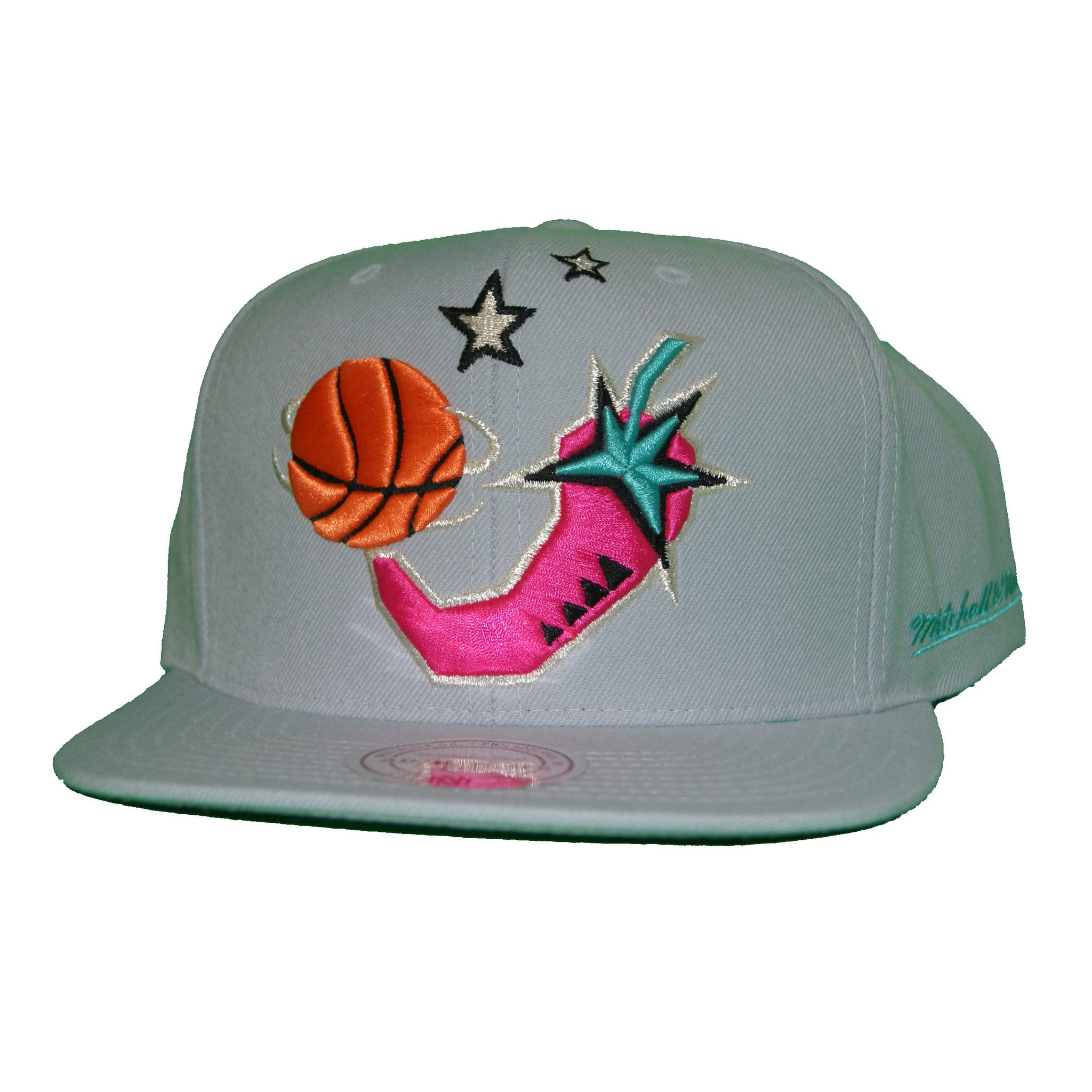 Mitchell   Ness 1996 NBA All Star Chili Pepper Snapback In Grey 0f2a6849c9a5
