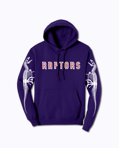 """RAPTORS"" Osteology Pullover Hoodie in Purple"